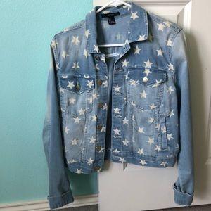 Forever 21 Star Jean Jacket, never worn